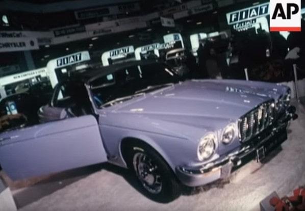 Jaguar XJC (XJ Coupe) on Earls Court Motor Show 1973