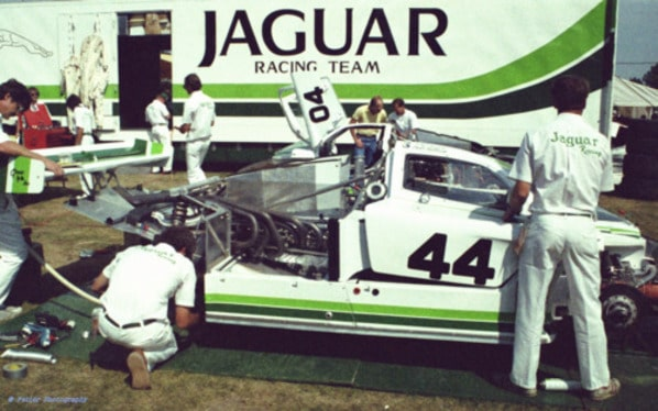 Jaguar XJR-5 Group 44 on Le-Mans 1984
