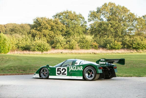 Green+white Jaguar XJR-6