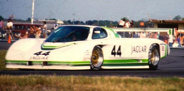 Jaguar XJR-7 on Eastern 3 Hours Daytona 1 december 1985