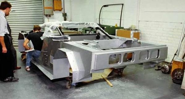 Jaguar XJ220 Concept chassis creation