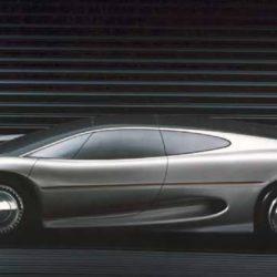 Jaguar XJ220 Concept clay model