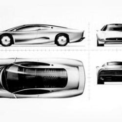 Jaguar XJ220 Concept drawing