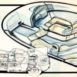 Jaguar XJ220 Concept interior sketches