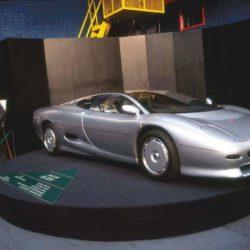 Jaguar XJ220 Concept on the podium