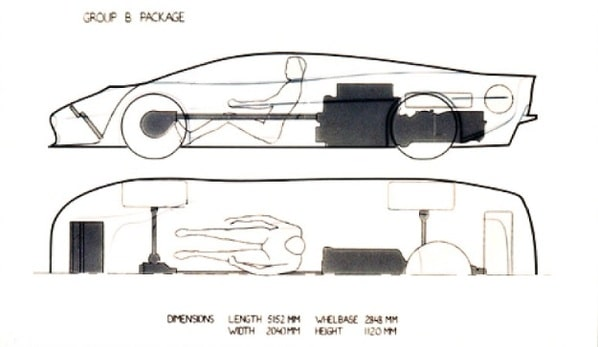 Jaguar XJ220 Concept package drawing