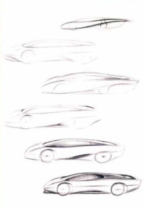 Jaguar XJ220 Concept sketches
