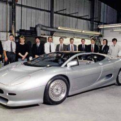 Jaguar XJ220 Concept team