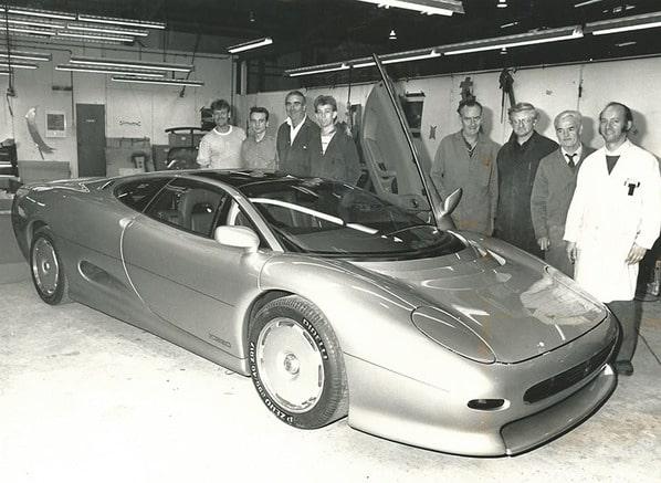 Jaguar XJ220 Concept with creators