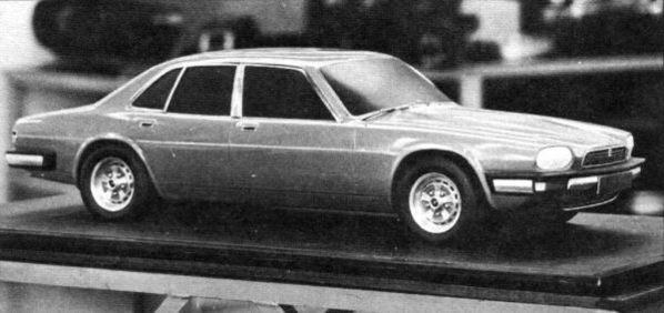 Jaguar XJ40 Prototype clay model 1972