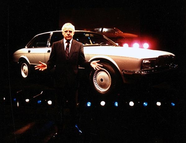 John Egan and Jaguar XJ40 announce