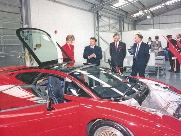 Princess Diana and Jaguar XJ220 Experimental Prototype